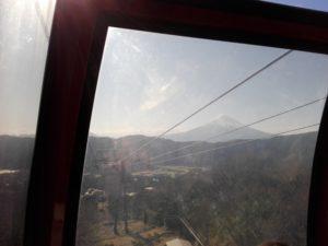 ロープウェイから見る富士山
